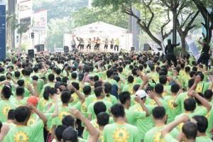 Senam Pilates Massal Inner City Manajemen