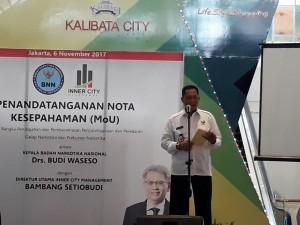 Kepala BNN Budi Waseso Saat Penandatanganan MoU di Kalibata City (Dokumen Jurnal123)