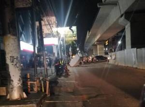 Robohnya Tembok MRT (Foto Tempo)