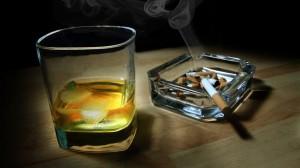 Ilustrasi Alkohol dan Rokok