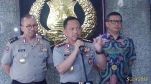 Kapolri, Jenderal Pol Tito Karnavian ditemui di Kompleks Mabes Polri, Jumat(5/1/2018) dengan tegaskan Pemeriksaan Walikota Kaltim itu Kesamaan Hak dimuka Umum. (Jurnal123/Vecky Ngelo)