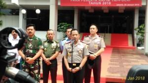 Kapolri Jenderal Tito Karnavian Beserta Panglima TNI Jenderal Hadi Tjahjanto (Foto Vecky Ngelo/Jurnal123)
