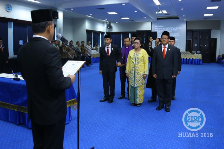 Sejumlah Pimpinan Tinggi BNN Dilantik